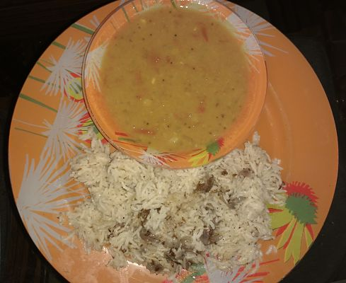 Arhar ki daal with rice