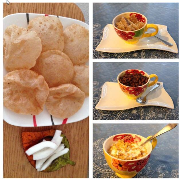 Ashtami special (Halwa, Chana and Poori)