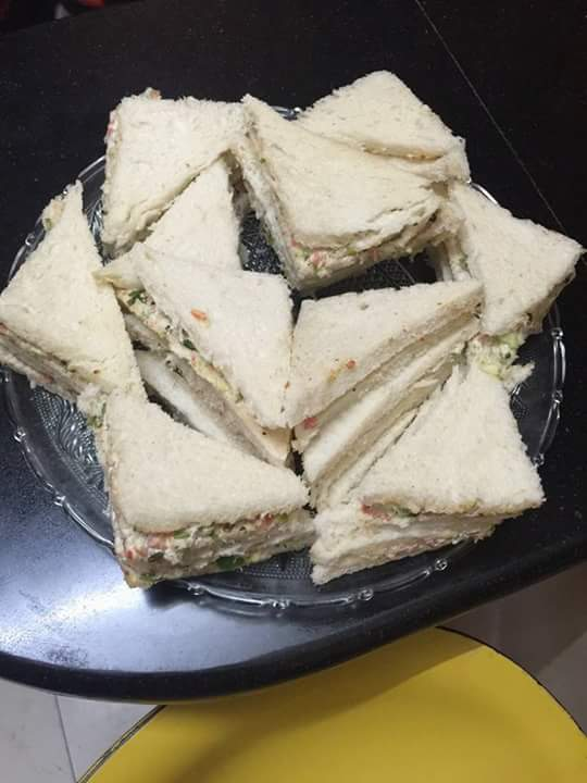 Cold vegetable sandwich