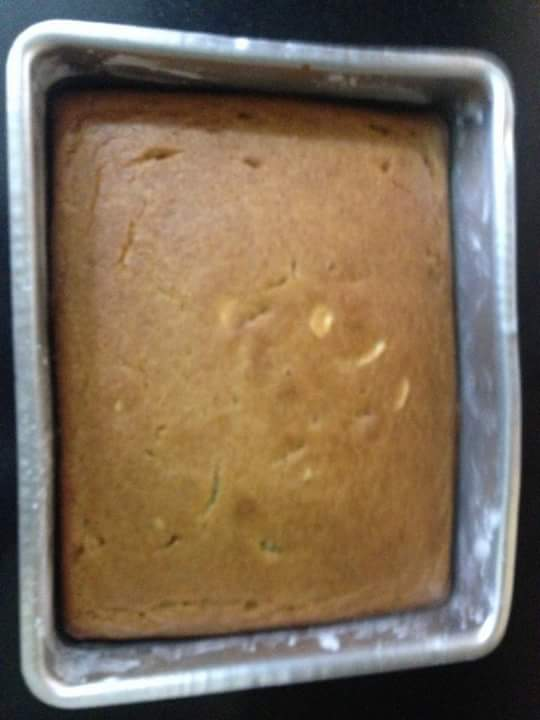 Yummy banana cake is ready to eat.