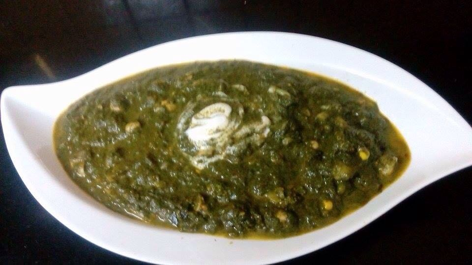 Palak with mix vegetable