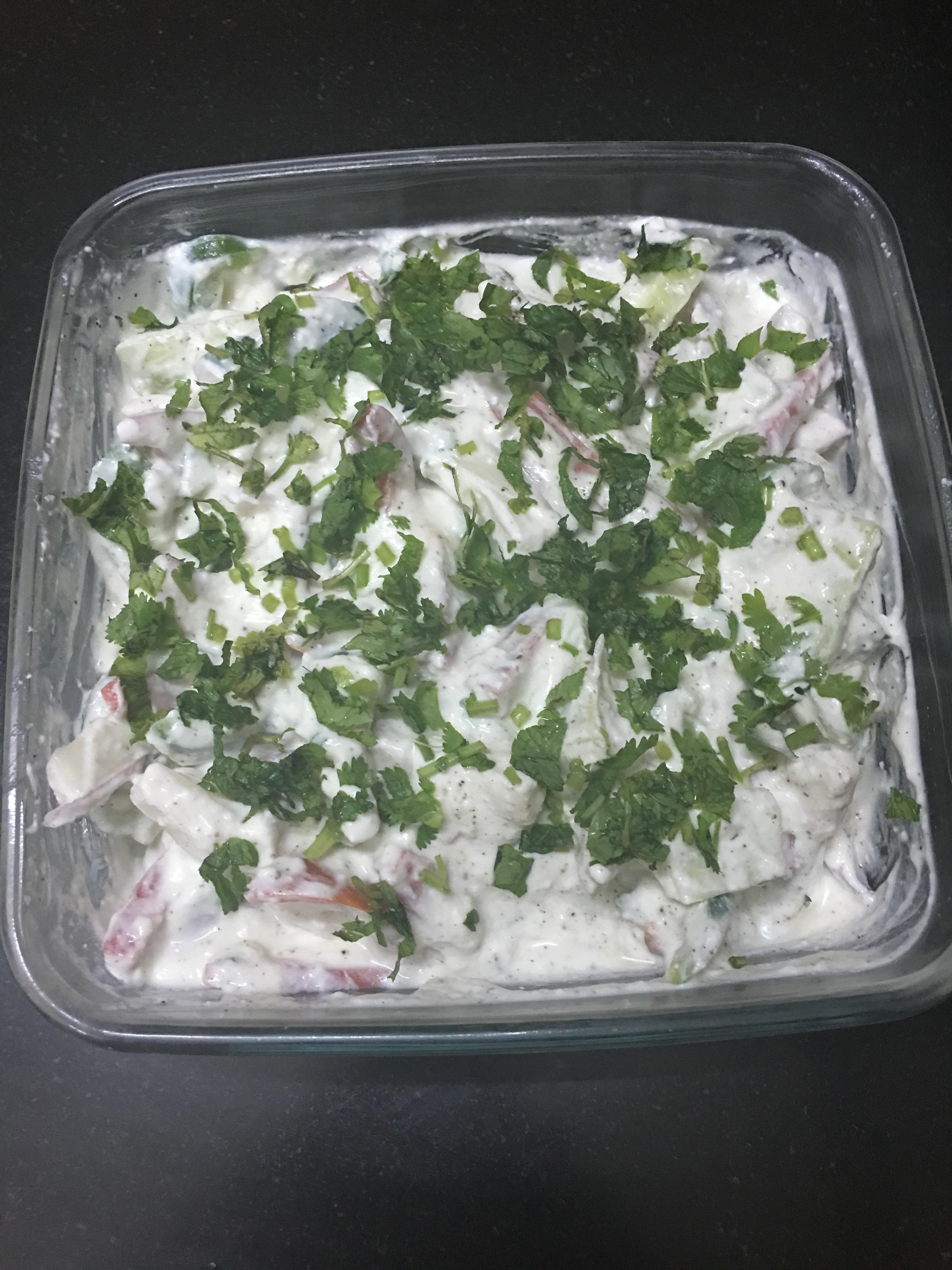 Mother' day special curd salad