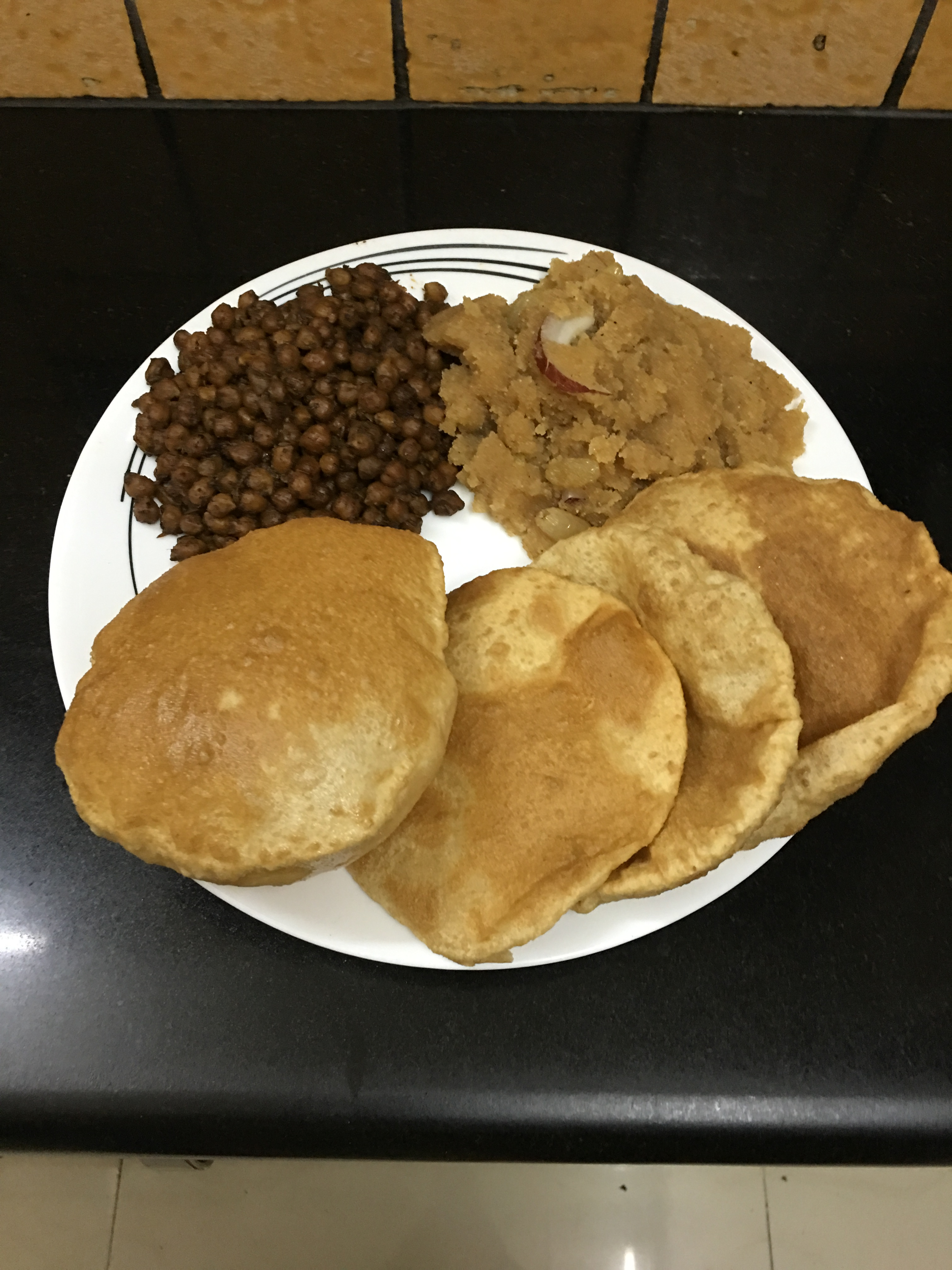 Ashtami special (Halwa ,chana and poori )