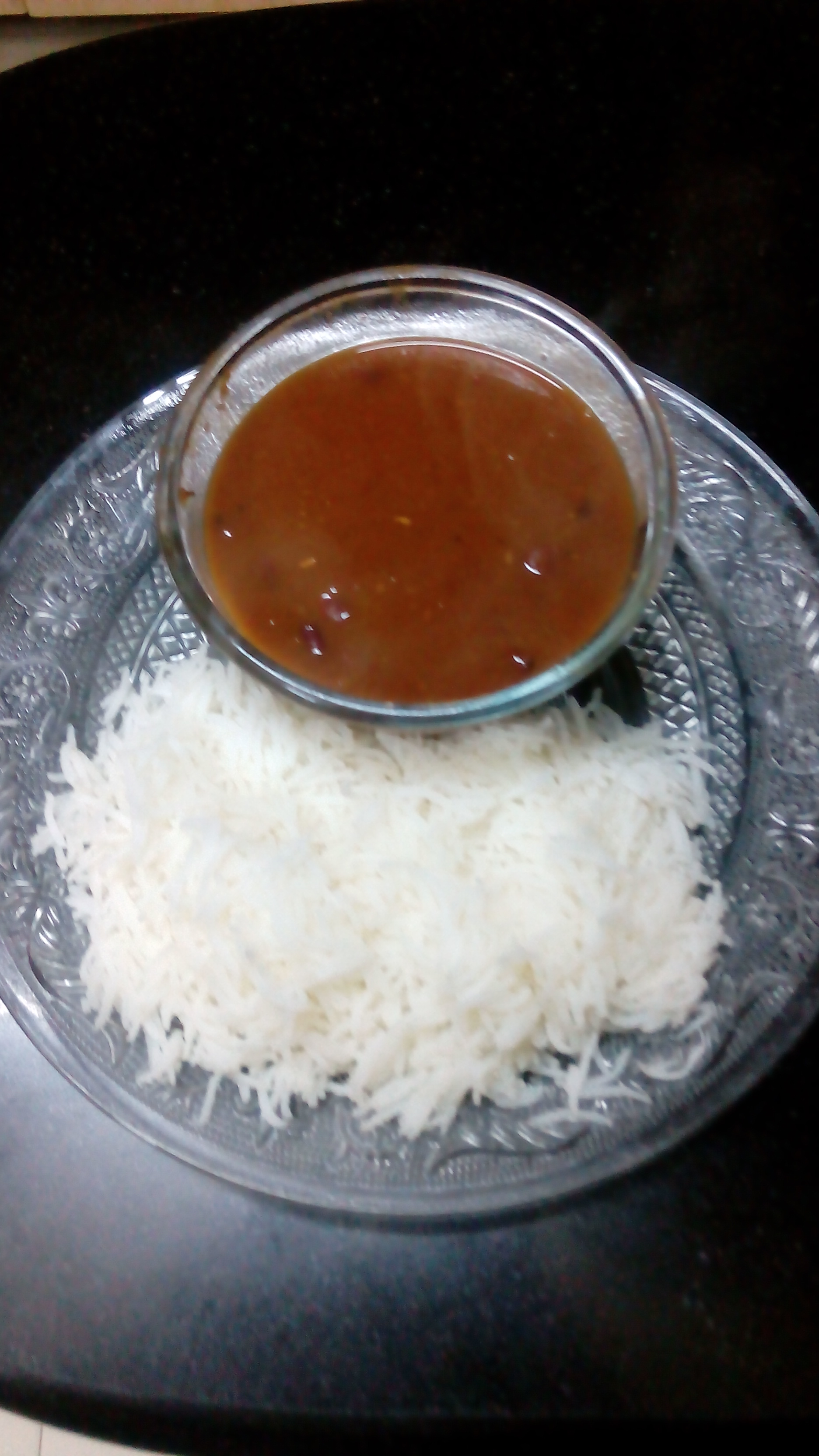 Rajma curry with boiled rice