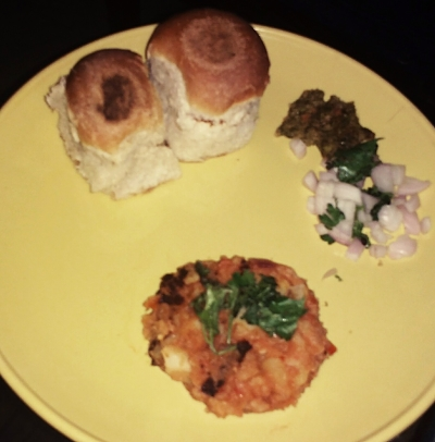 Kids special aloo bhaji with pav