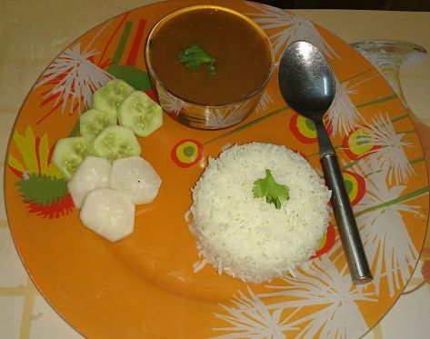 Rajma curry with rice