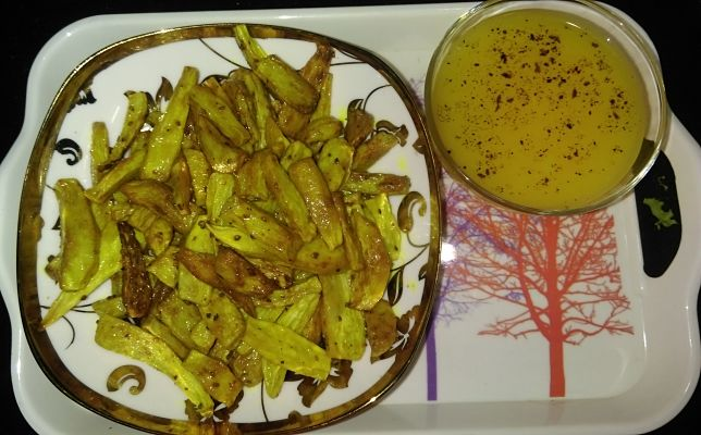 Dry Arbi with soothing Malangi