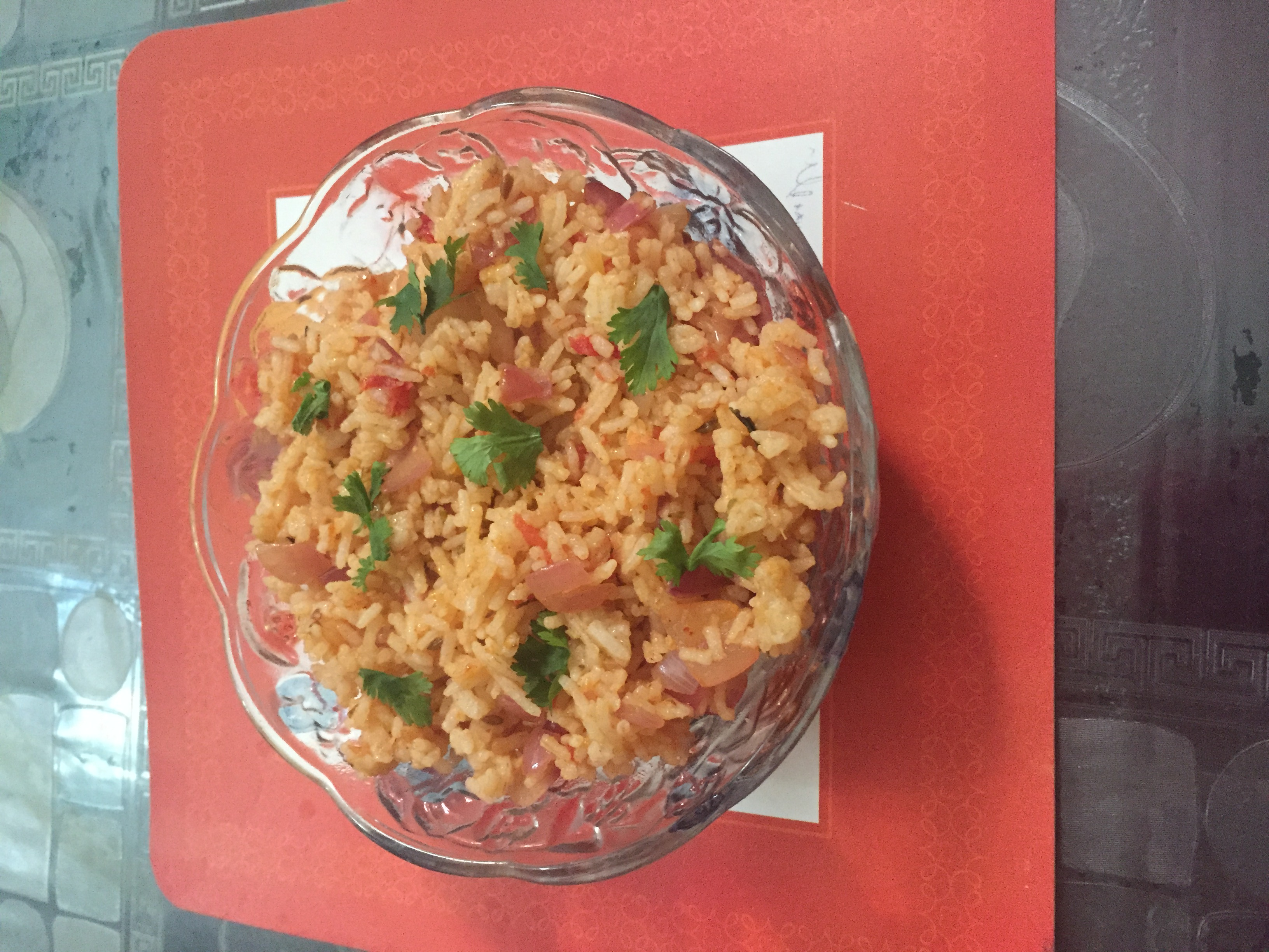 Mexican Rice ( out of leftover rice)