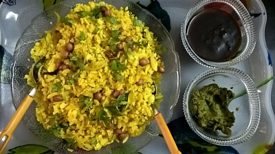 Simple Onion Poha